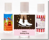 Ice Skating African American - Personalized Birthday Party Hand Sanitizers Favors