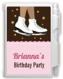 Ice Skating African American - Birthday Party Personalized Notebook Favor thumbnail