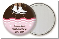 Ice Skating African American - Personalized Birthday Party Pocket Mirror Favors