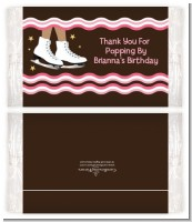 Ice Skating African American - Personalized Popcorn Wrapper Birthday Party Favors