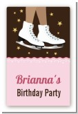 Ice Skating African American - Custom Large Rectangle Birthday Party Sticker/Labels