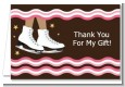 Ice Skating African American - Birthday Party Thank You Cards thumbnail