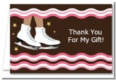 Ice Skating African American - Birthday Party Thank You Cards