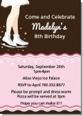 Ice Skating - Birthday Party Invitations