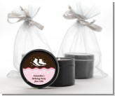 Ice Skating - Birthday Party Black Candle Tin Favors