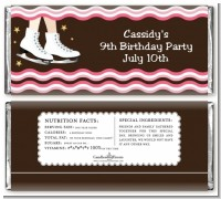 Ice Skating - Personalized Birthday Party Candy Bar Wrappers