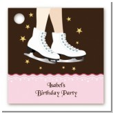 Ice Skating - Personalized Birthday Party Card Stock Favor Tags