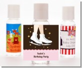 Ice Skating - Personalized Birthday Party Hand Sanitizers Favors
