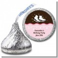 Ice Skating - Hershey Kiss Birthday Party Sticker Labels thumbnail