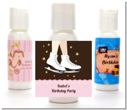 Ice Skating - Personalized Birthday Party Lotion Favors