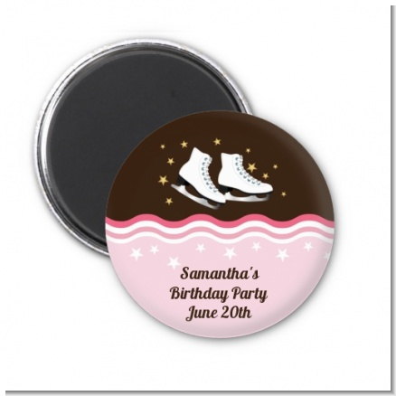 Ice Skating - Personalized Birthday Party Magnet Favors