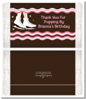 Ice Skating - Personalized Popcorn Wrapper Birthday Party Favors