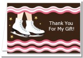 Ice Skating - Birthday Party Thank You Cards