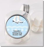 Ice Skating with Snowflakes - Personalized Birthday Party Candy Jar