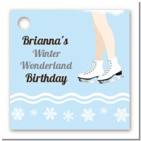 Ice Skating with Snowflakes - Personalized Birthday Party Card Stock Favor Tags