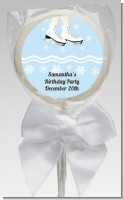 Ice Skating with Snowflakes - Personalized Birthday Party Lollipop Favors