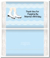 Ice Skating with Snowflakes - Personalized Popcorn Wrapper Birthday Party Favors