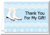 Ice Skating with Snowflakes - Birthday Party Thank You Cards