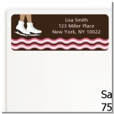 Ice Skating African American - Birthday Party Return Address Labels