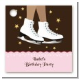 Ice Skating African American - Personalized Birthday Party Card Stock Favor Tags thumbnail