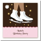 Ice Skating African American - Personalized Birthday Party Card Stock Favor Tags