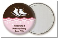 Ice Skating - Personalized Birthday Party Pocket Mirror Favors