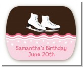 Ice Skating - Personalized Birthday Party Rounded Corner Stickers