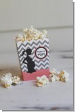 Ready To Pop Chevron Gray and Salmon Pink - Baby Shower Popcorn Boxes