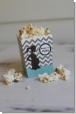 Ready To Pop Chevron Gray and Aqua - Baby Shower Popcorn Boxes