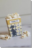 Ready To Pop Yellow and Gray Plaid - Baby Shower Popcorn Boxes