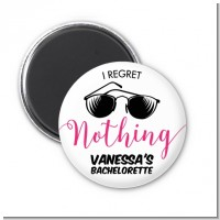 I Regret Nothing - Personalized Bridal Shower Magnet Favors