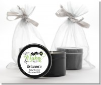 It's A Baby - Baby Shower Black Candle Tin Favors
