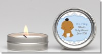 It's A Boy Chevron African American - Baby Shower Candle Favors