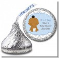 It's A Boy Chevron African American - Hershey Kiss Baby Shower Sticker Labels thumbnail