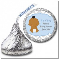 It's A Boy Chevron African American - Hershey Kiss Baby Shower Sticker Labels
