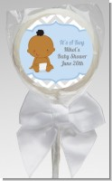 It's A Boy Chevron African American - Personalized Baby Shower Lollipop Favors