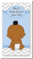 It's A Boy Chevron African American - Custom Rectangle Baby Shower Sticker/Labels
