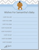 It's A Boy Chevron African American - Baby Shower Wishes For Baby Card