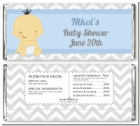 It's A Boy Chevron Asian - Personalized Baby Shower Candy Bar Wrappers
