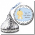 It's A Boy Chevron Asian - Hershey Kiss Baby Shower Sticker Labels thumbnail