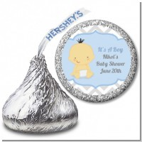It's A Boy Chevron Asian - Hershey Kiss Baby Shower Sticker Labels