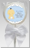 It's A Boy Chevron Asian - Personalized Baby Shower Lollipop Favors