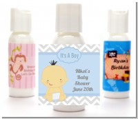 It's A Boy Chevron Asian - Personalized Baby Shower Lotion Favors