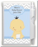 It's A Boy Chevron Asian - Baby Shower Personalized Notebook Favor