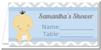 It's A Boy Chevron Asian - Personalized Baby Shower Place Cards