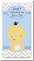 It's A Boy Chevron Asian - Custom Rectangle Baby Shower Sticker/Labels