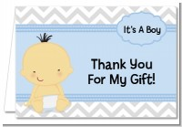 It's A Boy Chevron Asian - Baby Shower Thank You Cards