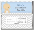 It's A Boy Chevron - Personalized Baby Shower Candy Bar Wrappers thumbnail