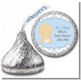 It's A Boy Chevron - Hershey Kiss Baby Shower Sticker Labels thumbnail