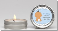 It's A Boy Chevron Hispanic - Baby Shower Candle Favors